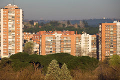Bloc d'appartements à Madrid Image libre de droits
