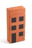 bloc d'appartements d'Un-brique Photo stock