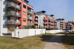 Bloc d'appartements des maisons Image stock