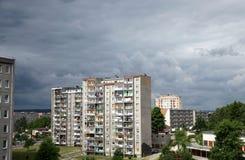 Bloc d'appartements l'architecture socialiste en Pologne. Images stock