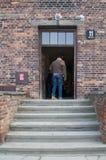 Bloc 11 dans le camp de concentration d'Auschwitz Image libre de droits