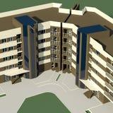 bloc de 5 étages Photo libre de droits