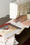 Bloc de assemblage de papier de Quilter Photo libre de droits