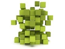 Bloc de cubes en explosion Concept se réunissant Photographie stock libre de droits