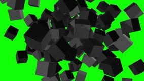 Bloc de cubes Grand concept se réunissant de données illustration libre de droits