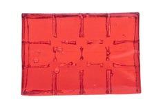 Bloc de cubes rouges en gelée Image libre de droits