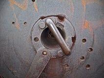Bloc de culasse de vieux canon comme fond de metall Image stock