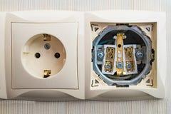 Bloc de débouché électrique Photos stock