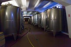 Bloc de réservoir de vin Photographie stock