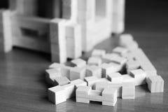Bloc of developing children`s designer. Of wood Stock Photo
