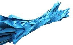 Bloc dynamique abstrait Image stock