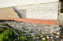 Bloc effondré de mur Image libre de droits