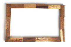 Bloc en bois de cadre abstrait Image stock