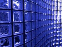 Bloc en verre bleu images libres de droits