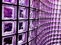 Bloc en verre pourpré Image libre de droits