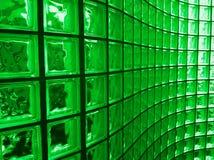 Bloc en verre vert image stock
