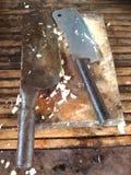 Bloc et couteau Image libre de droits