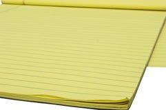 Bloc jaune 2 d'écriture Image stock