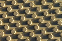 Bloc jaune de barrière de texture comme fond image stock