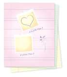Bloc-notes avec des messages d'amour illustration stock