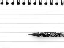 Bloc-notes avec le crayon 1 Photo stock