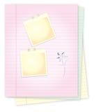 Bloc-notes avec pour l'écriture de message Photographie stock