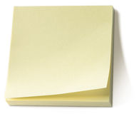 Bloc-notes collant jaune de note de post-it   Photos stock