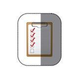 bloc-notes coloré de table d'autocollant avec la liste de contrôle Photographie stock