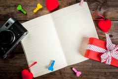 Bloc-notes de lettre d'amour Photo stock