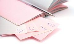 Bloc-notes de nouvelle année Image libre de droits
