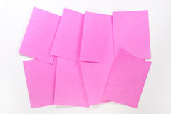 Bloc-notes de post-it Images libres de droits