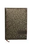 Bloc-notes en cuir d'isolement Photo stock