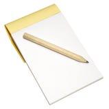 Bloc-notes et crayon Image libre de droits
