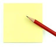 Bloc-notes et crayon Photo stock
