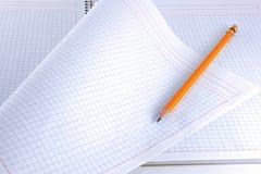 Bloc-notes et crayon lecteur Photos libres de droits