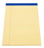 Bloc - notes jaune Photo stock