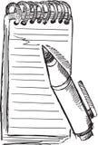 Bloc-notes Pen Vector de griffonnage illustration stock