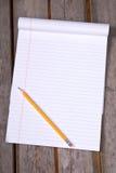 Bloc-notes permissible rayé blanc Photographie stock