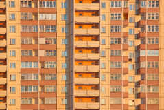 Bloc orange d'habitation Image stock