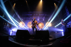 Bloc Party band performs at Razzmatazz Clubs. Royalty Free Stock Image