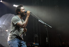Bloc Party. Singer Kele Okereke of British indie-rock band Bloc Party during performance at festival Rock for People in Hradec Kralove, Czech republic, July 2 Stock Images