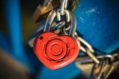 Blocage d'amour Photo libre de droits