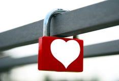 Blocage d'amour Photos libres de droits