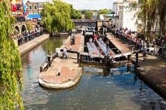 Blocage de Camden à Londres, Royaume-Uni Photo libre de droits