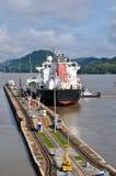 Blocage de canal du Panama Image libre de droits