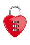 Blocage de combinaison avec un coeur rouge Image stock