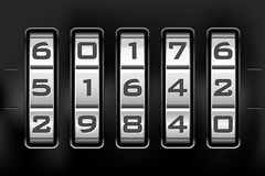 Blocage de combinaison - code de numéro Photos stock