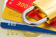 blocage de crédit de cartes Image libre de droits