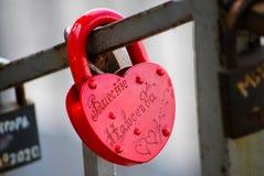 Blocage de l'amour Image stock