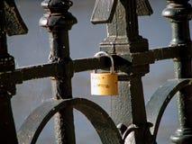 Blocage de l'amour Photos libres de droits